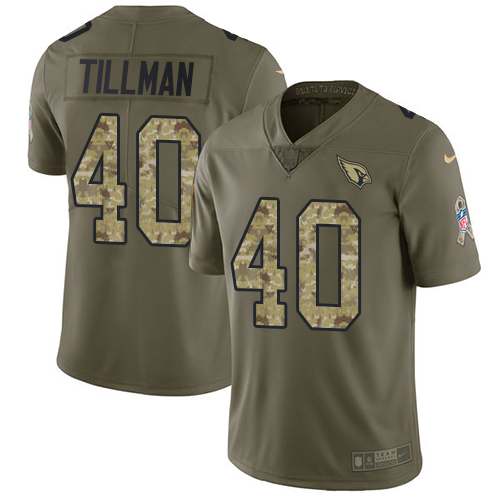 on sale 34d7c 3a04a Nike Cardinals #40 Pat Tillman Olive/Camo Men's Stitched NFL Limited 2017  Salute to Service Jersey